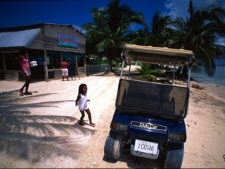 NO cars – Caye Caulker, Belize