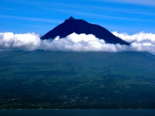 View of Pico Volcan from Faial